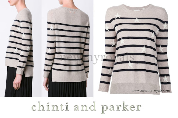 Princess Madeleine wore Chinti and Parker Stars & stripes sweater