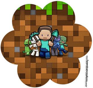 Toppers o Etiquetas de Minecraft para imprimir gratis.