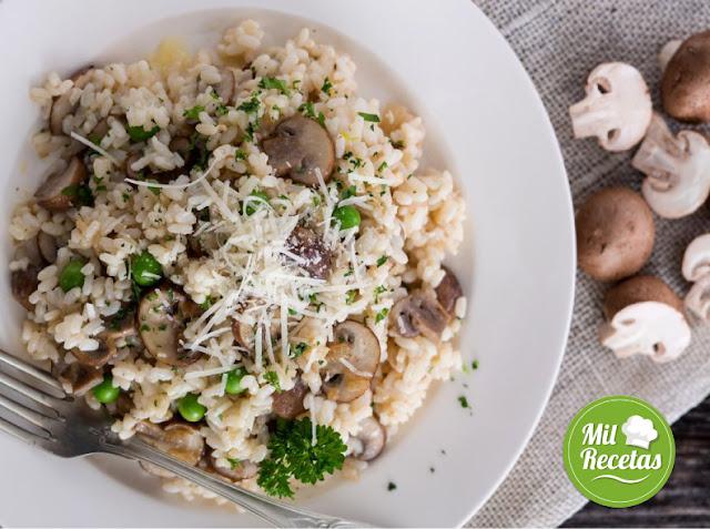 receta de risotto con champiñon