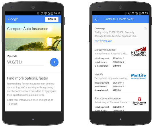 Introducing Google Compare for U.S. car insurance