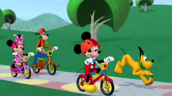 MICKEY MOUSE: Oh, ring-a-ding-ding, it's so much fun riding my bike!