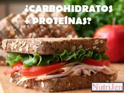 mezclar carbohidratos con proteinas