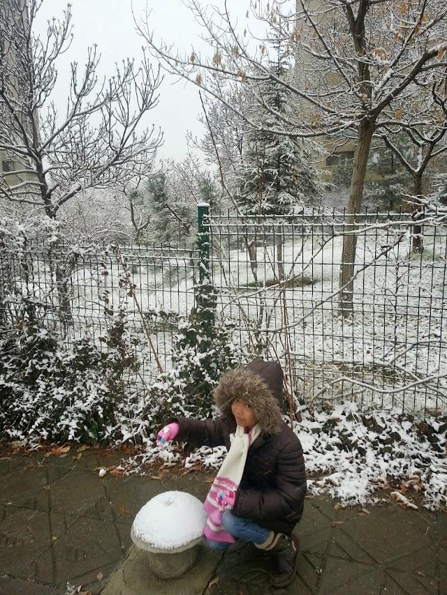 Salji Turun Awal di Ankara, Turki