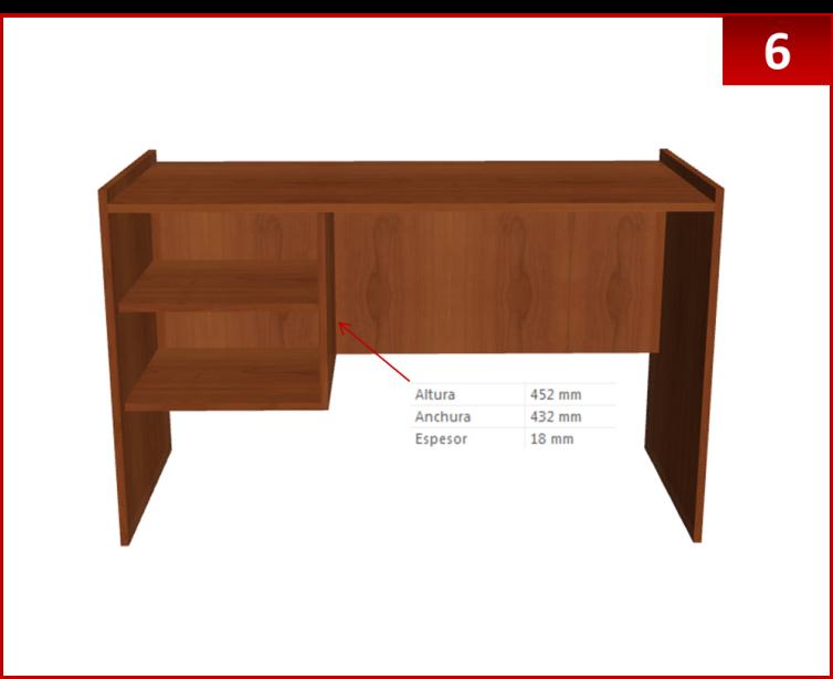 Dise o de muebles madera crear escritorio con repisas for Muebles escritorio diseno
