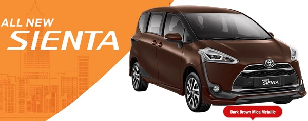 Warna Toyota All New Sienta Dark Brown Mica Metalic