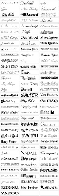 500個熱門常用的英文字型下載,English Fonts!