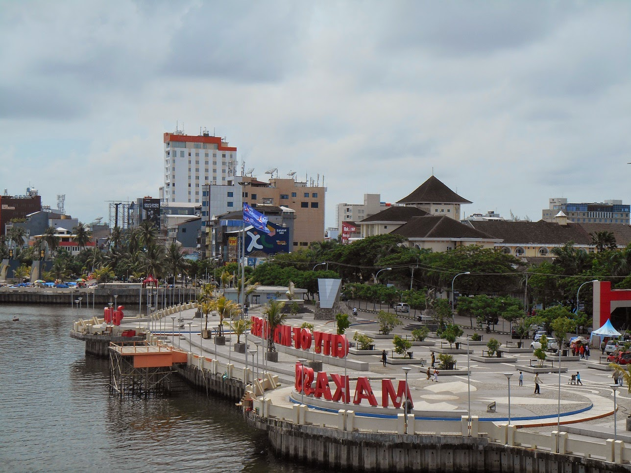 Losari Beach City Of Makassar