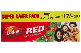Dabur Red Tooth Paste 300 gram For Rs 94 at Amazon rainingdeal.in