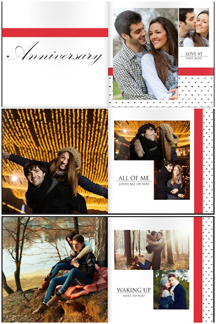 Anniversary photobook template