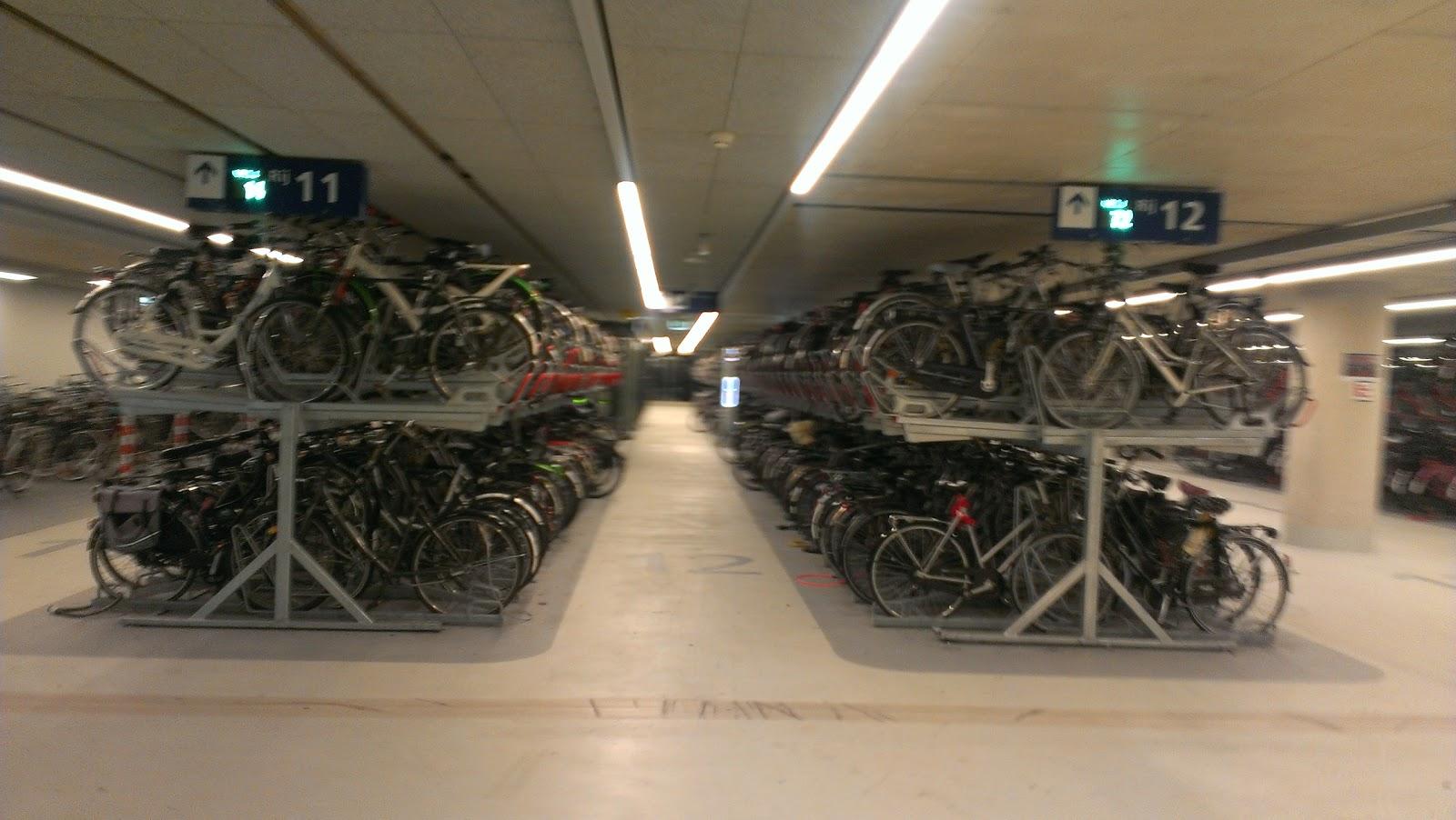 Revolving Transportation Delft Bicycle Parking Garage