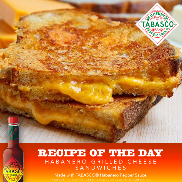 Habanero Grilled Cheese Sandwiches Recipe