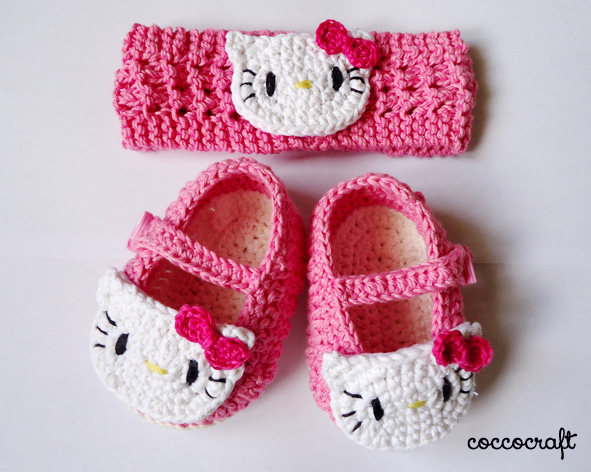 Hello Kitty Shoes And Headband Crochet Patterns Free Funcolor Craft