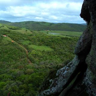 Parque Visto da Caverna Percival Antunes, em Caçapava do Sul
