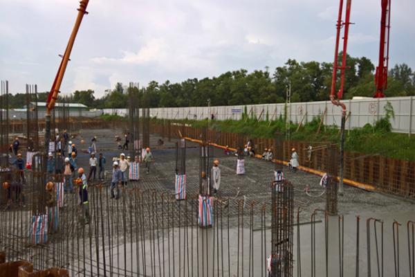 Bắt Đầu Xây Dựng Tầng Hầm Tòa Nhà FPT Tân Thuận 3