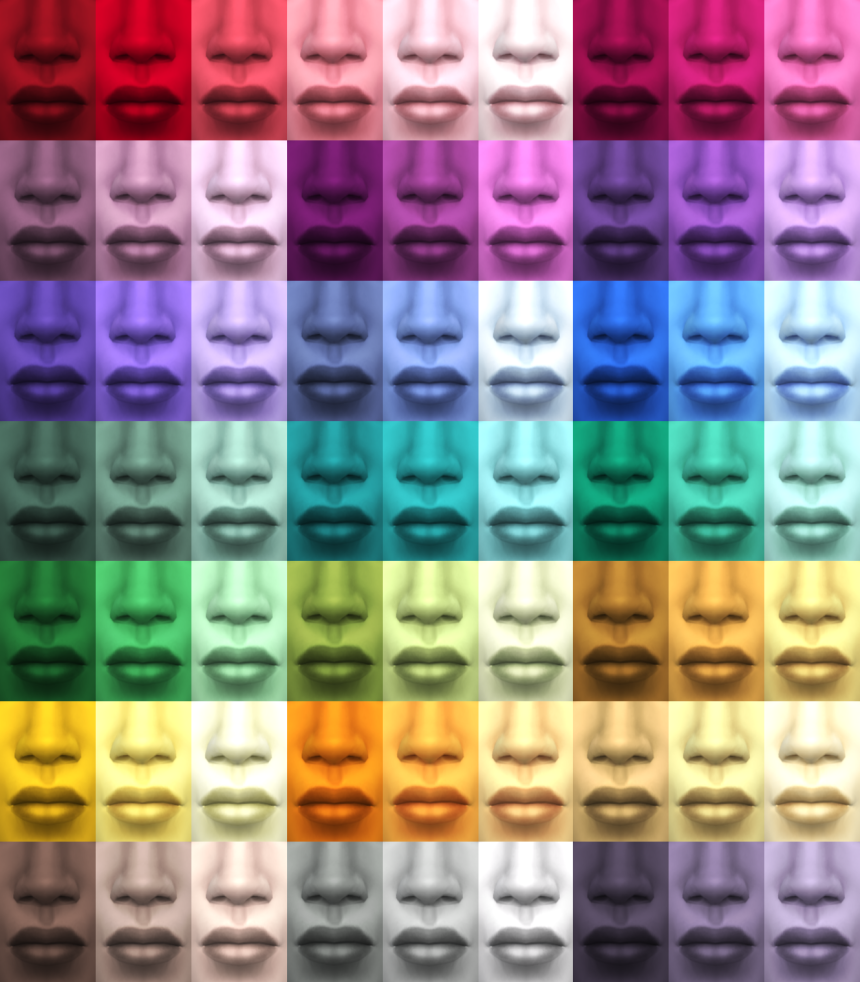 My Sims 4 Blog Improved 63 Custom Skin Colors By The