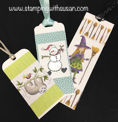 www.stampingwithsusan.com, Stampin' Up!, Bookmarks, 2018 Holiday Catalog