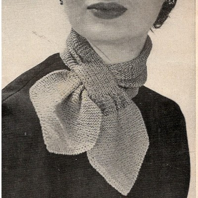 Just Skirts And Dresses 1952 Crocheted Ascot Cravat