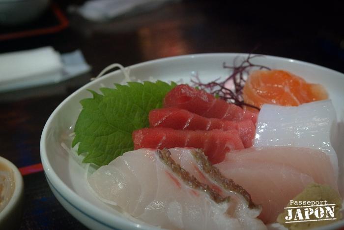 Assiette de sashimi, port de plaisance, Nagasaki