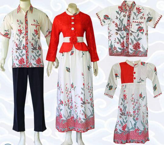 Model Baju Batik Sarimbit Untuk Pakaian Seragam Keluarga: 10 Model Baju Batik Keluarga Modern Terbaru 2020