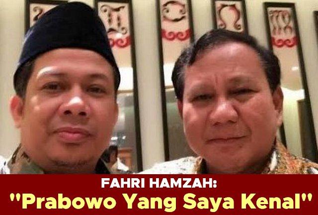 """""""Prabowo Yang Saya Kenal"""" by @Fahrihamzah"""