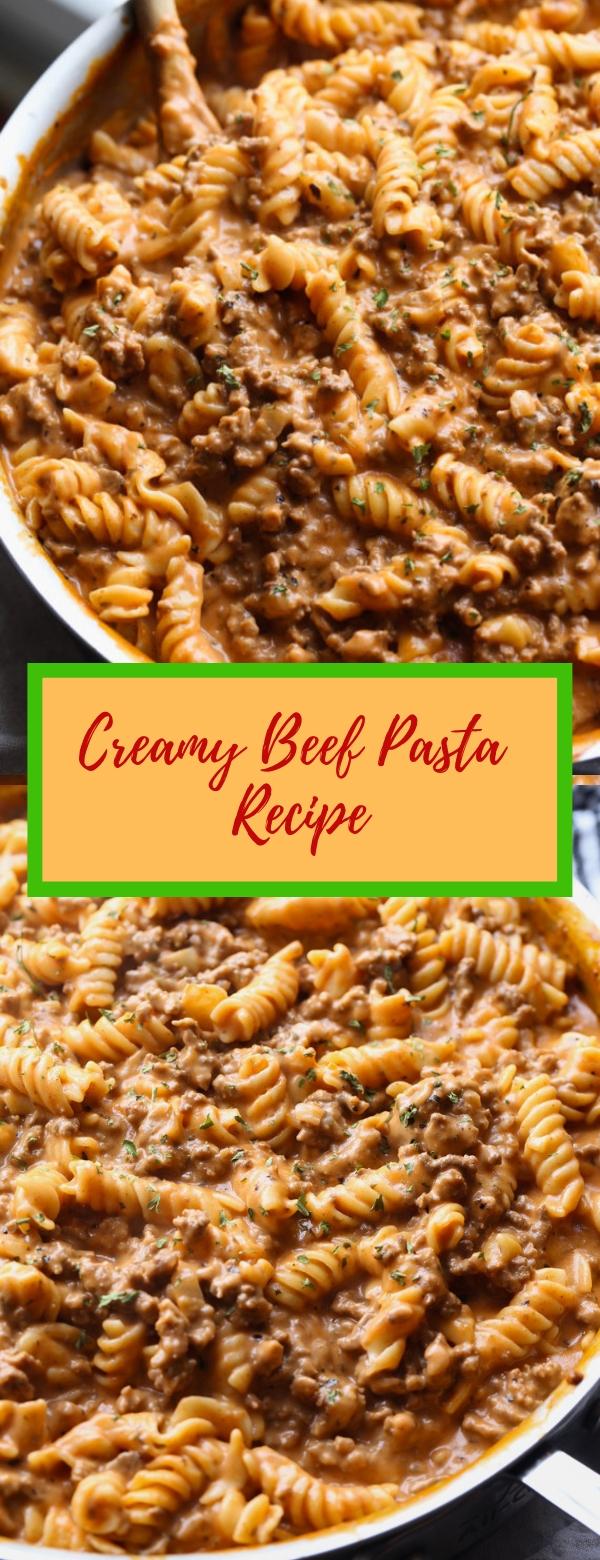 Creamy Beef Pasta Recipe #CREAMY #BEEF #PASTA