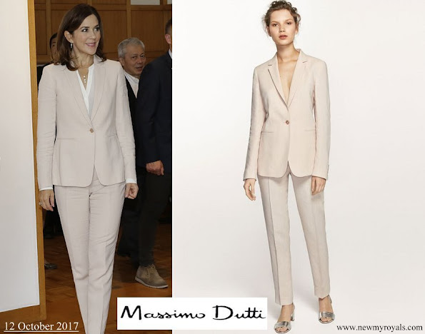 Crown Princess Mary wore Massimo Dutti PantSuit