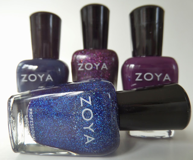 zoya happy holo-days quad bottles