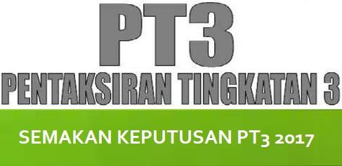 Tarikh rasmi Keputusan PT3 2017 diumumkan