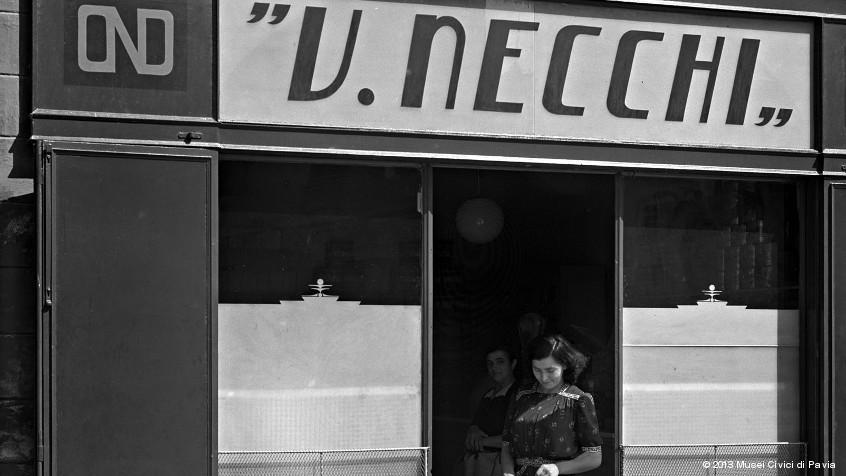 Necchi Storefront in Pavia, Italy.