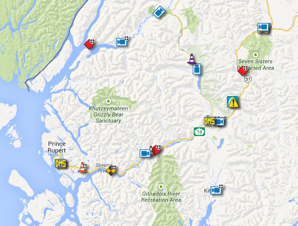 North Coast Review: Drive BC issues Travel Advisories for Northwest