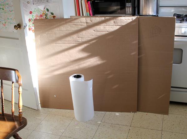 Filth Wizardry: Cheapskate cardboard canvas wall display