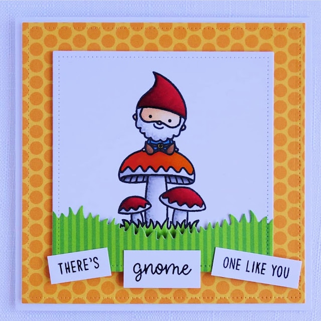 Sunny Studio Stamps: Home Sweet Gnome Autumn Themed Customer Card by Kat W