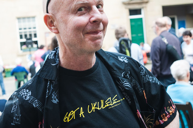 pUKEs Paul Redfern in a Got A Ukulele Shirt