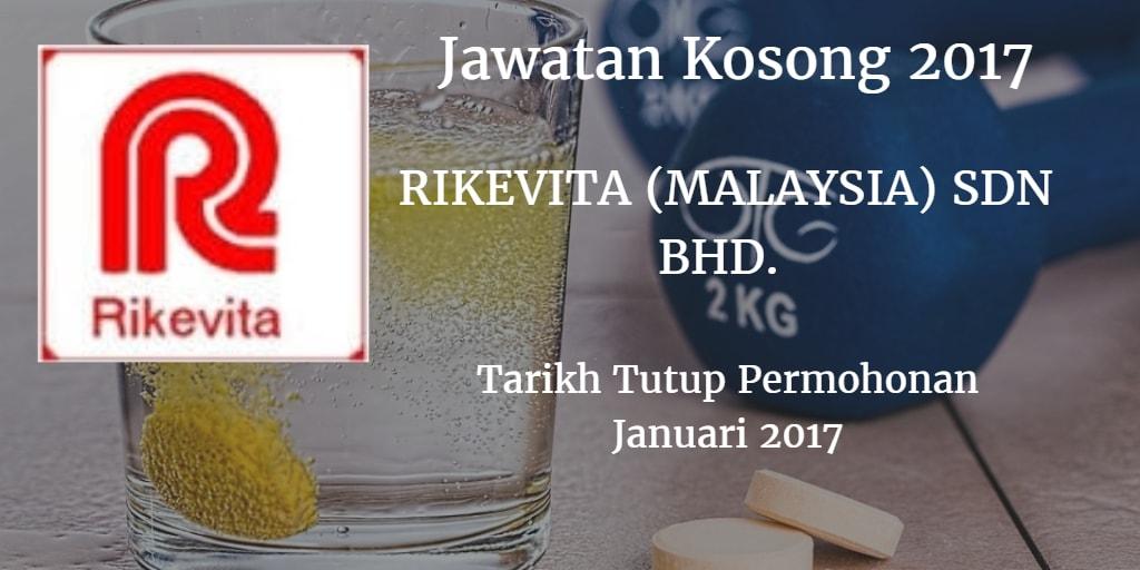 Jawatan kosong RIKEVITA (MALAYSIA) SDN BHD. Januari 2017
