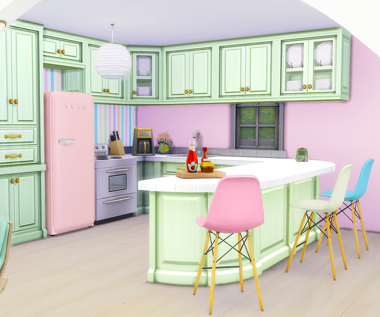 Sims Stuff 4 Kitchen: My Sims 4 Blog: Pink Spring House, Kitchen Recolors