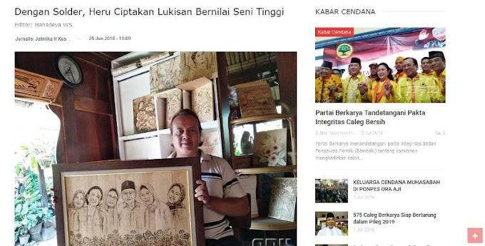 Liputan Cendana News di Sanggar Java Sketsa