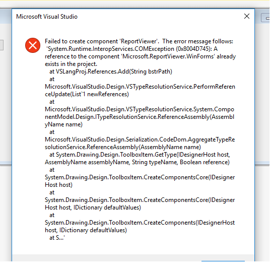 AspDotNet Sekhar's: [Solved] : failed to create component