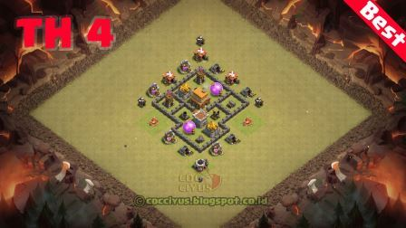 Susunan formasi coc th 4 war base layout
