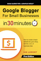 Google Blogger For Small Businesses In 30 Minutes new cover