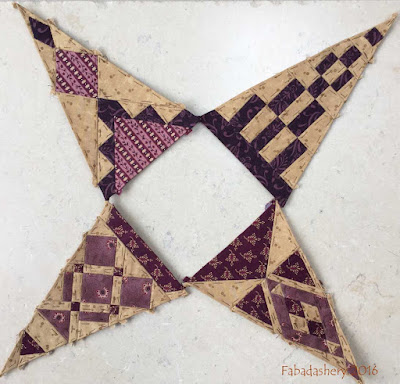 Dear Jane Quilt - Draw 38 - Border Triangles TR3, TR11, BR3, BR11