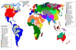 Mapa de los tipos de lenguas en el mundo