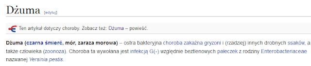What does dzuma dzuma mean in polish