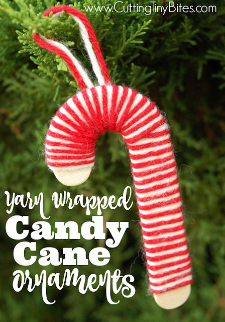Candy Cane Christmas Ornament Craft for Kids