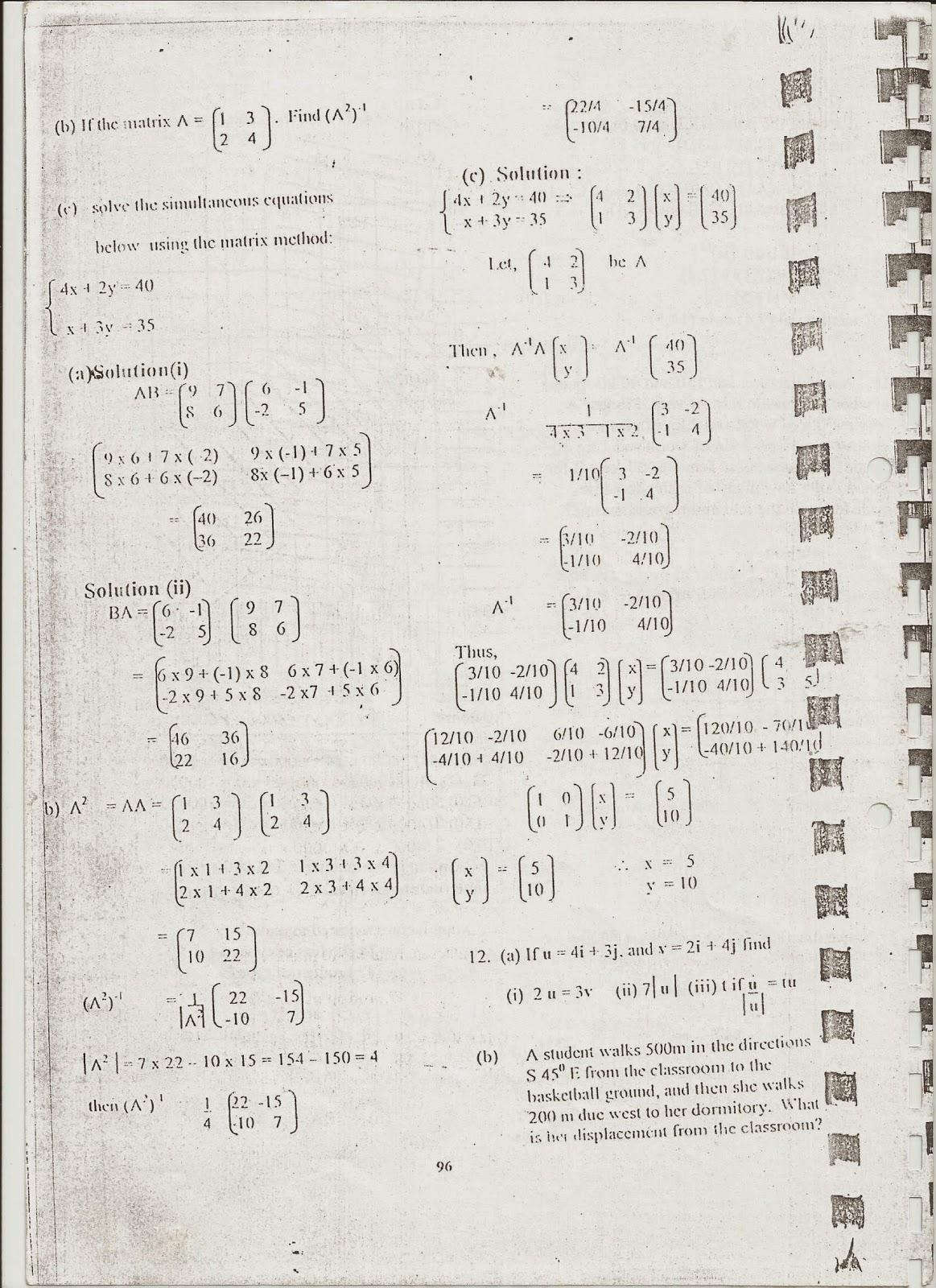 MWL JAPHET MASATU BLOG: Basic Mathematics O--Level Necta