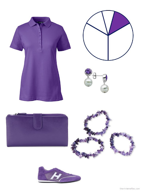travel capsule wardrobe additions in purple