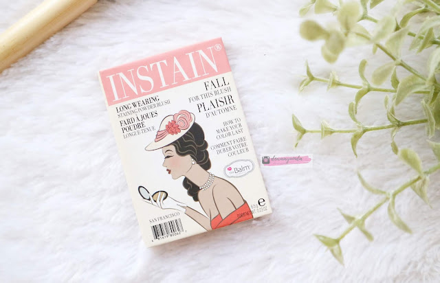 THE BALM INSTAIN LONG-WEARING STAINING POWDER BLUSH HOUNDSTOOTH & SWISSDOT
