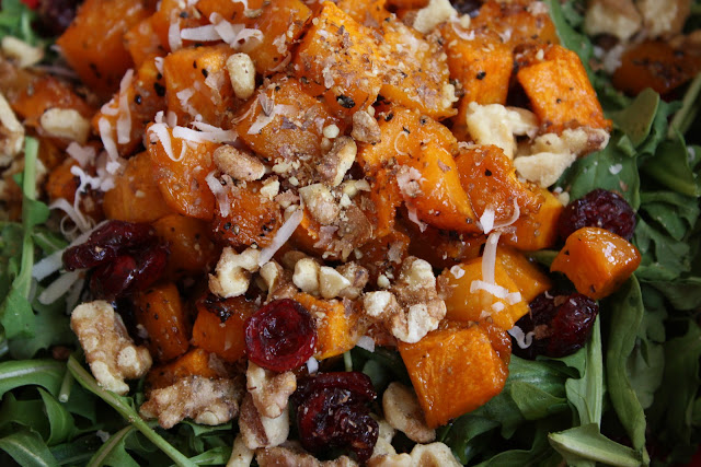 Roasted Ernut Squash Salad With Warm Cider Vinaigrette Courtesy Of Ina Garten Back To Basics
