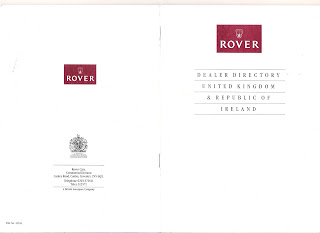 Rover dealer directory May 1991 cover
