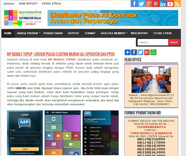 Cara Mendapatkan Web Pulsa Online GRATIS di Morena Pulsa