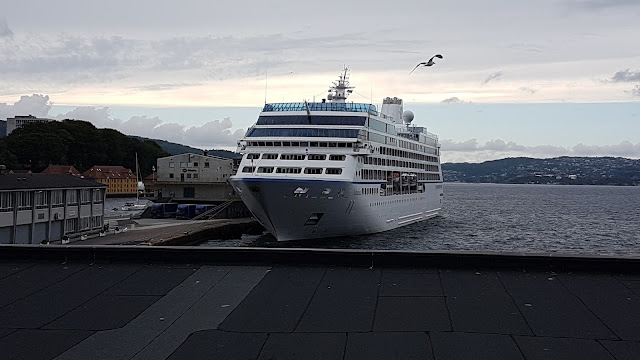 Cruise ship Nautica in Bergen, Norway; Oceania Cruises
